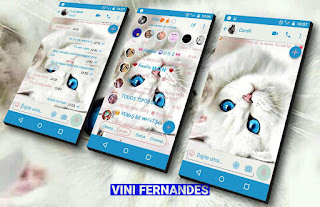 White Cat Theme For YOWhatsApp & Fouad WhatsApp By Vinícius