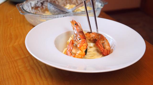 alfredo sauce with shrimp