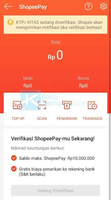 Apabila semua data sudah diisi dengan benar, Anda hanya perlu menunggu kurang lebih 24 jam saat proses verifikasi ShopeePay sedang berlangsung.