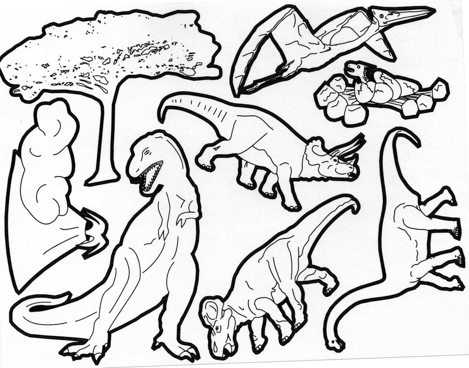 Dinosaurs coloring pages 39