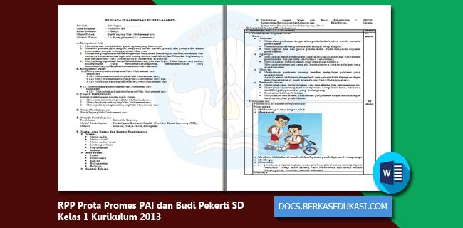RPP Prota Promes PAI dan Budi Pekerti SD Kelas 1 Kurikulum 2013