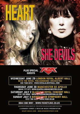 Heart + FM UK tour 2016 poster