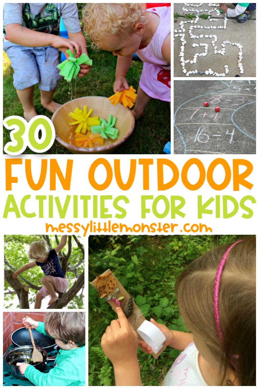fun outdoor activities for kids to do