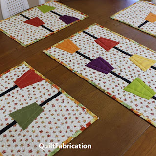 RAIN CHAINS-TABLE RUNNER-PLACEMATS-QUILT PATTERN-EASY-BEGINNER