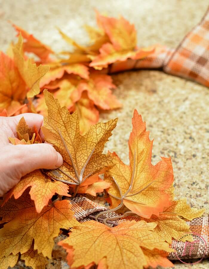Easy Peasy DIY Fall Wreath Faux Maple Leaves