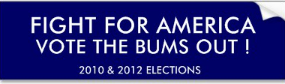 FIGHT FOR AMERICA - VOTE THE BUMS OUT!