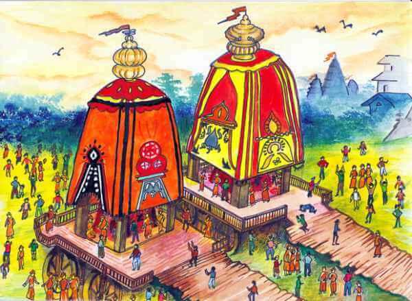 Ratha_yatra_drawing-Jagannath Puri Rath Yatra 2019 Quotes & Drawing