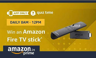 All Answer of Amazon Fire TV Stick Quiz Contest