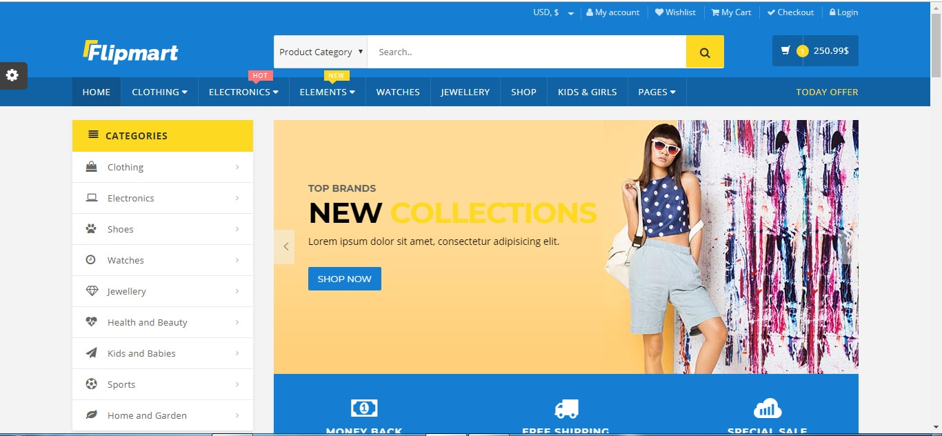 Flipmart - Responsive E-commerce WordPress