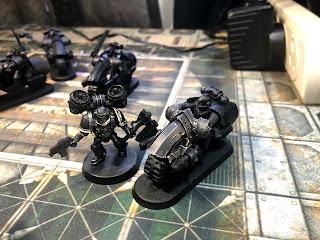 Dark Angels 30k Horus Heresy Outrider bike and assault marine