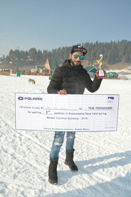 snowmobile champion umar gulmarg kashmir india