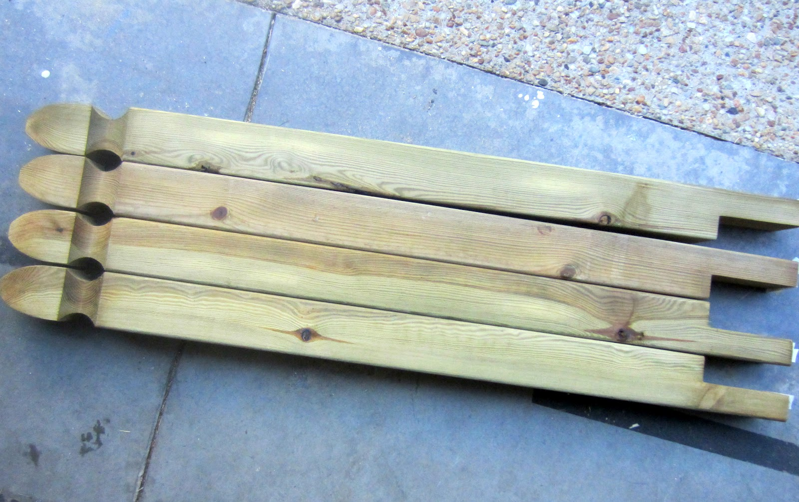 Down to earth style new old foyer table for 4 8 meter decking boards