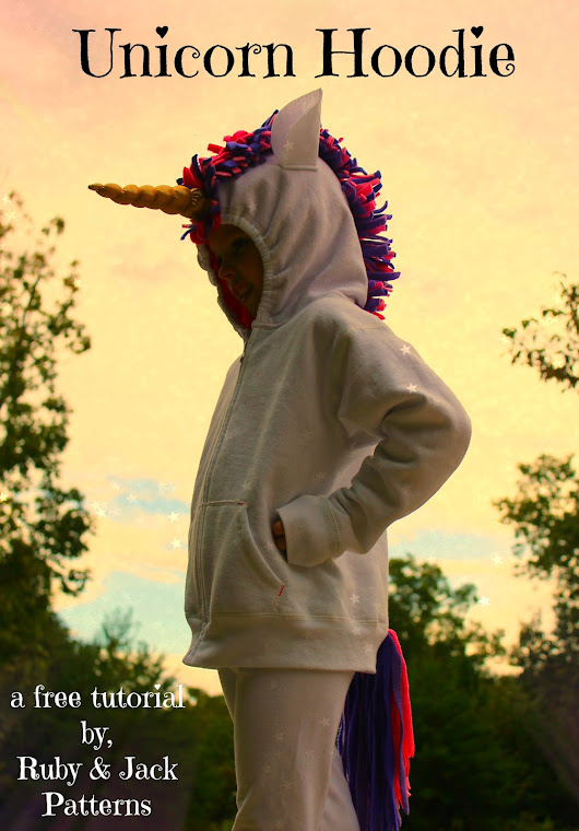Unicorn Hoodie Tutorial and Free Pattern