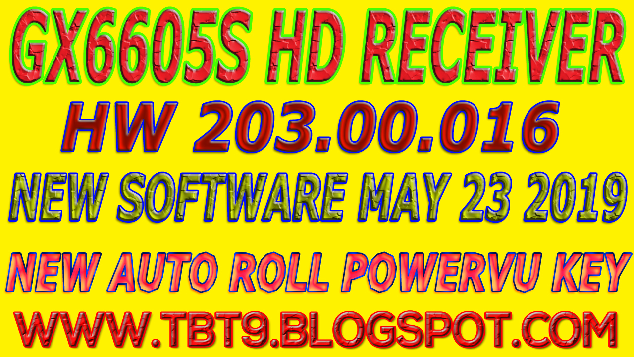 GX6605S HD RECEIVER HARDWARE-203 00 016 NEW SOFTWARE WITH
