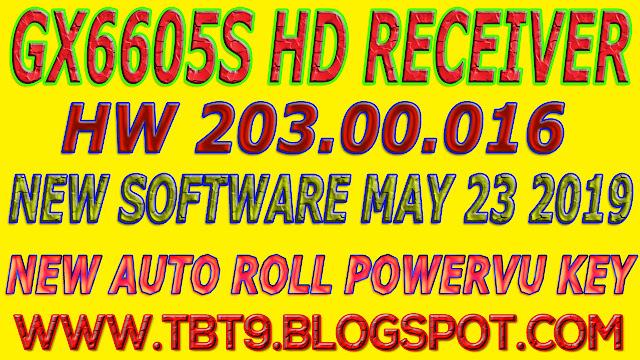 GX6605S HD RECEIVER HARDWARE-203.00.016 NEW SOFTWARE WITH POWERVU TEN SPORT OK