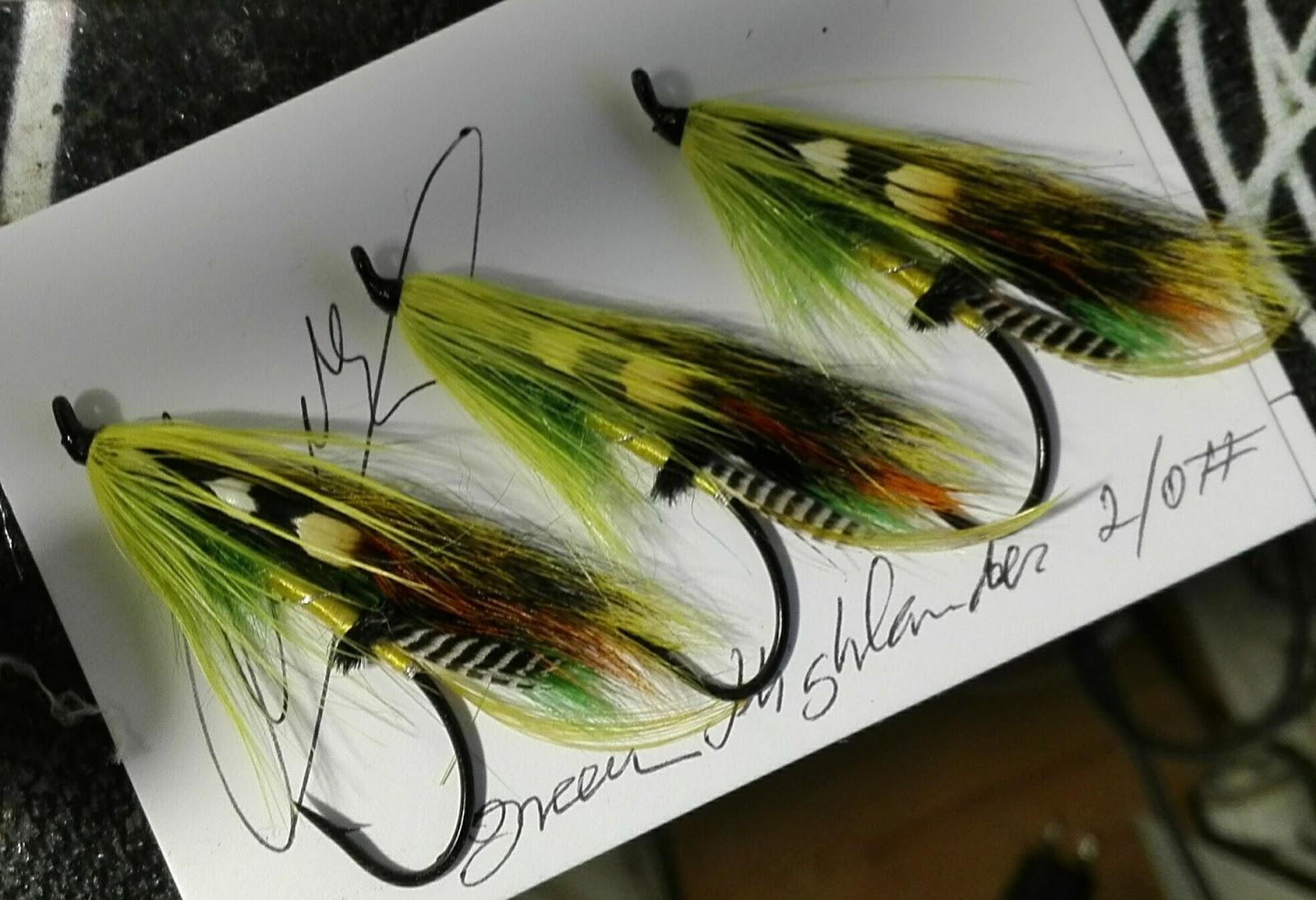 Salmon Flies Green Highlander 2//0 hairwing