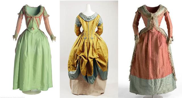 vestido à polonesa século xviii