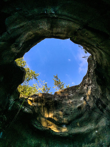 Inside the Bake Oven on the Glacial Potholes Trail at Interstate State Park