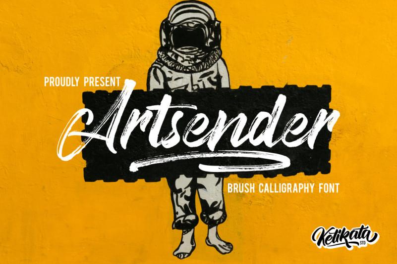 Artsender Font - Free Brush Calligraphy Typeface