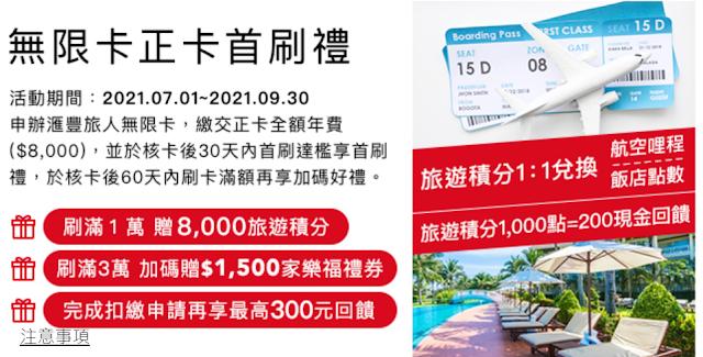 匯豐旅人卡~HSBC 匯豐銀行全新推出~💳2021常旅客專用哩程信用卡