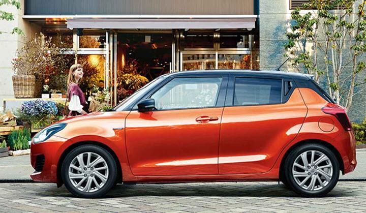 Suzuki Swift 2021 cải tiến nhẹ, thêm lẫy chuyển số vô lăng