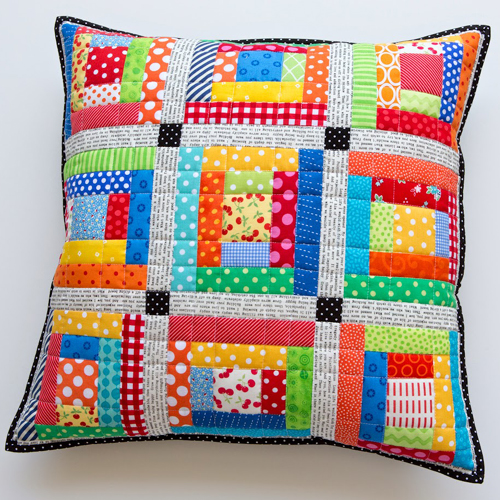 Scrappy Quilted Patchwork Pillows - Tutorial