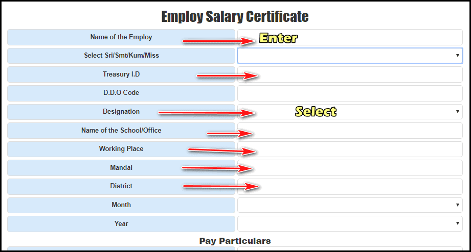 Pay Slip Salary Certificate download