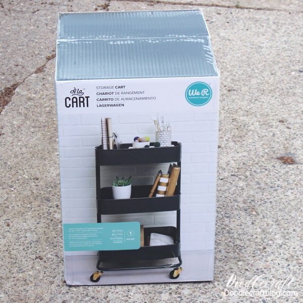 Rolling cart from We R Memory Keepers makeover with Colorshot spray paint