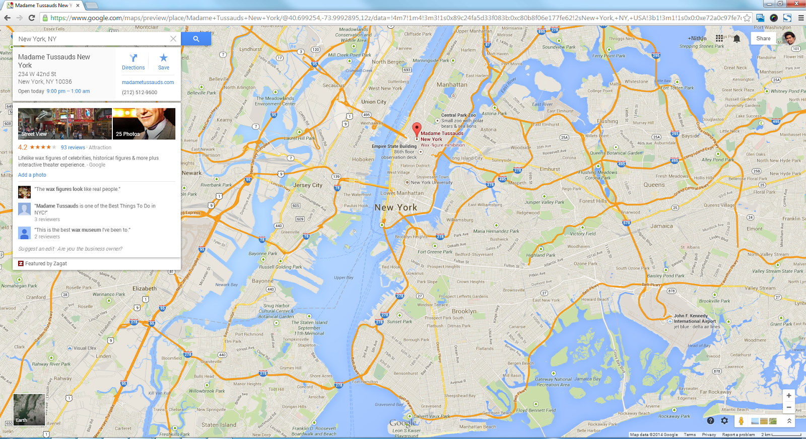 Google Map Of New York.Website Design And Development New Google Maps Integration With