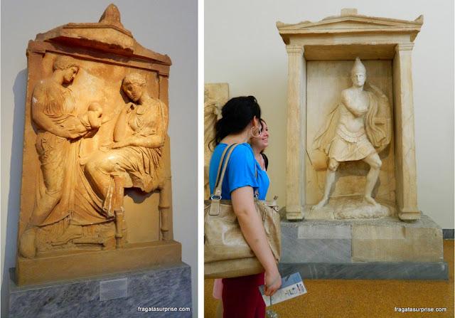 Esculturas tumulares, Museu Nacional de Arqueologia de Atenas, Grécia