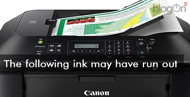 The following ink may have run out Canon MX 530