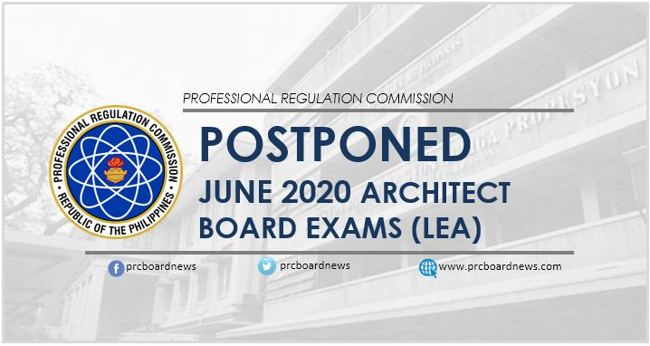 June 2020 Architect board exam (LEA) postponed, new schedule announced