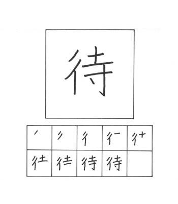kanji menunggu