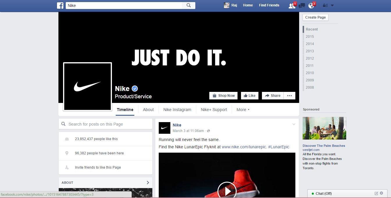 nike la facebook