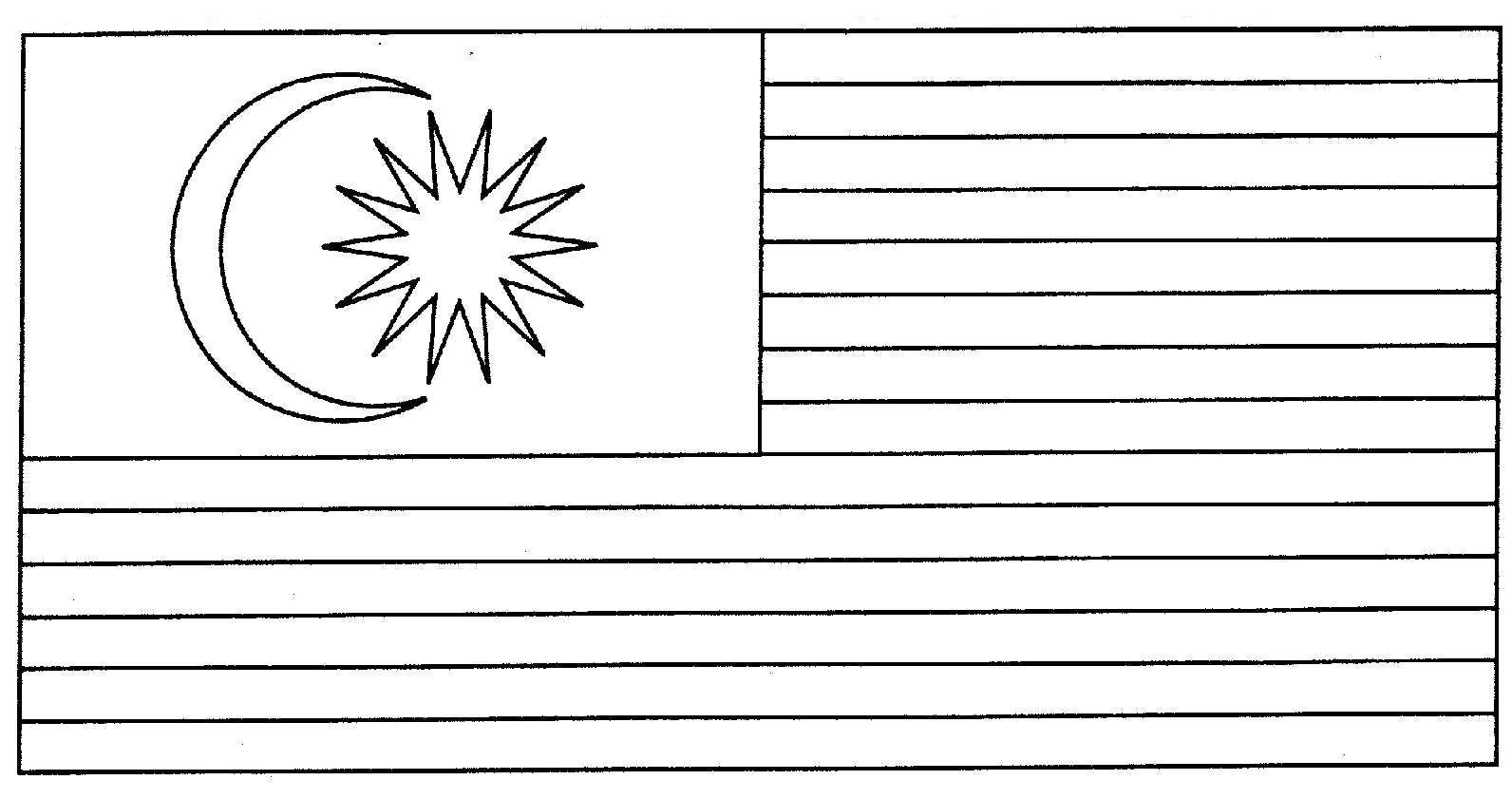 Bendera Malaysia Gambar Mewarna