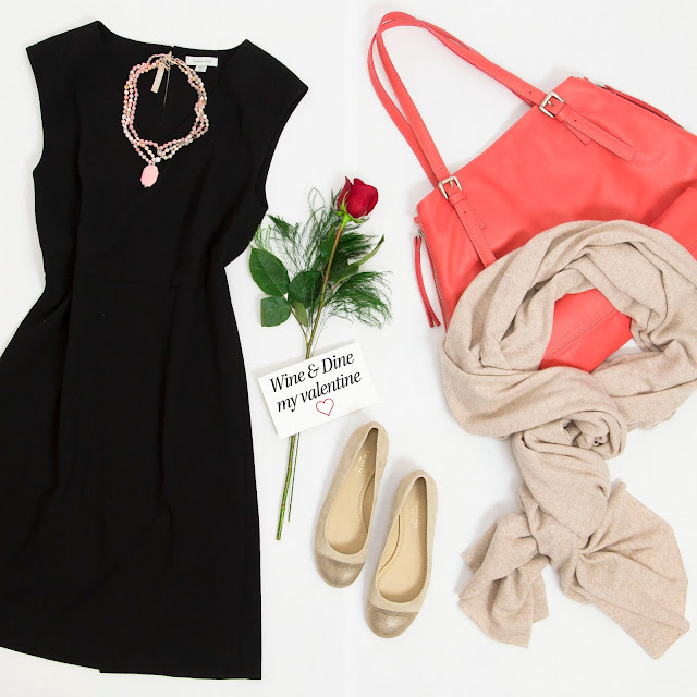 garnet hill valentines day date night outfit ideas fashion after 40 blogger 5 star restaurant