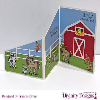 Stamps: Hogs & Kisses, Stamp/Die Duos: Farm Friends, Custom  Dies: Z-Fold Card with Layers, Barn, Farm Fence, Paper Collections: Birthday Brights, Menswear Material