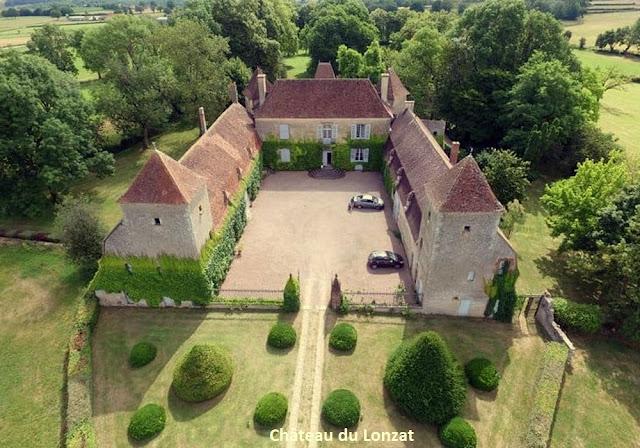 Vue aérienne du Château du Lonzat - Les Amis du Patrimoine de Jaligny - Photo : David Tablet