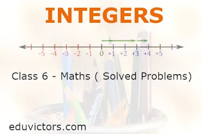 Class 6 Maths - Integers ( Questions and Answers) (#class6Maths)(#eduvictors)(#integers)