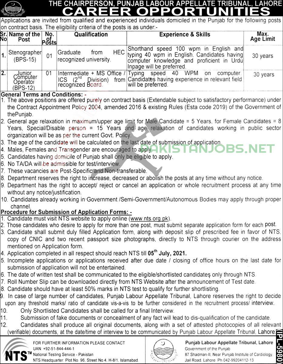Punjab Labour Jobs Latest 2021