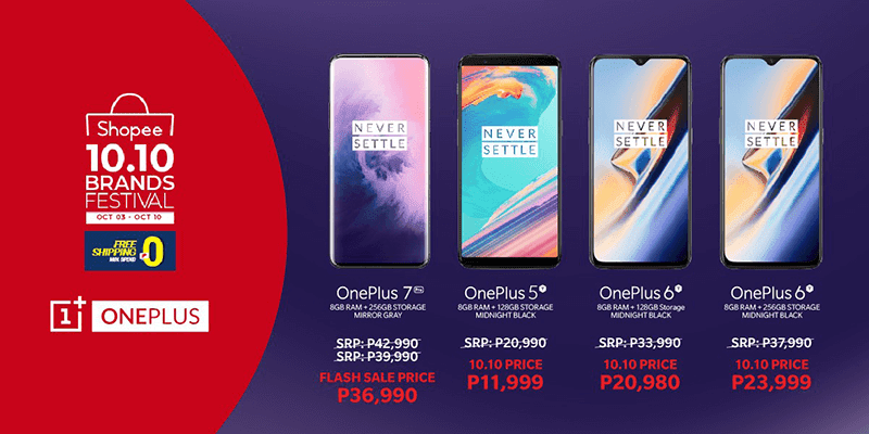 Shopee includes One Plus 7 Pro in the 10.10 Brand Festival