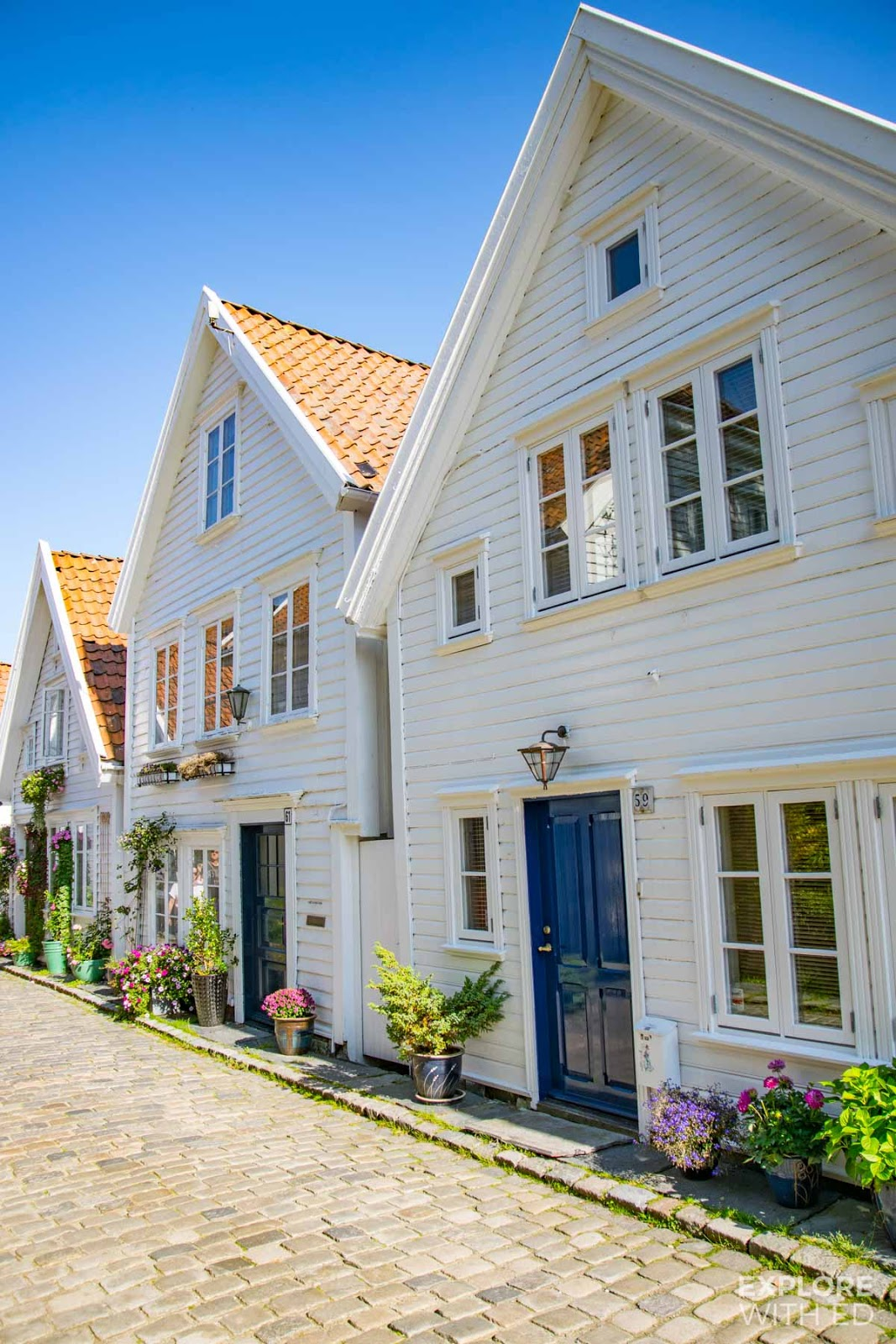 The pretty wooden houses of old town Stavanger