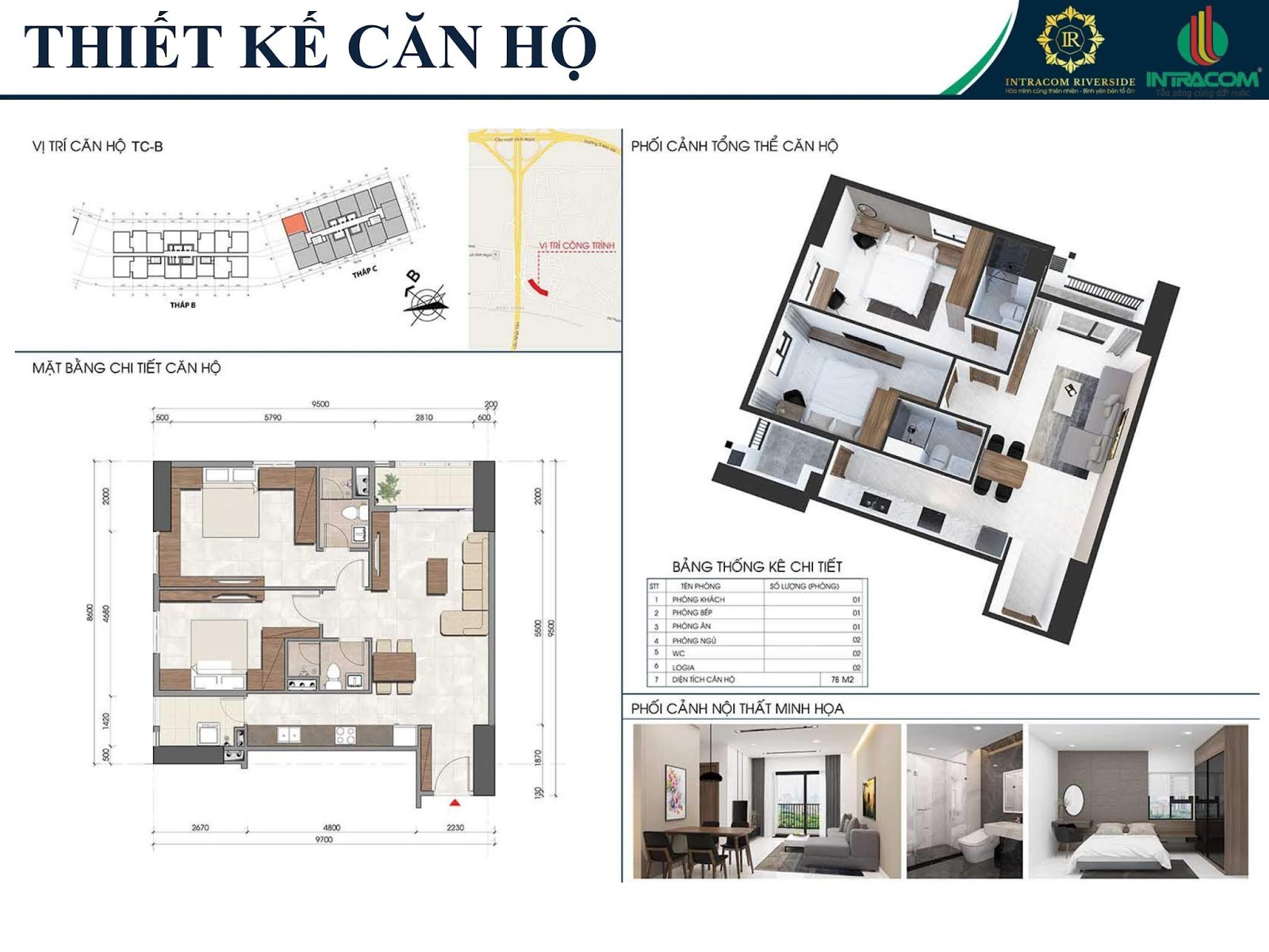 Thiết kế căn 01 - 06 - 08 - 12A - 76m2