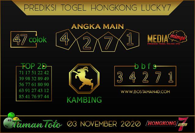 Prediksi Togel HONGKONG LUCKY 7 TAMAN TOTO 03 NOVEMBER 2020