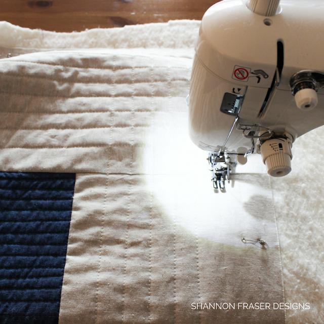 Quilting on Juki TL-2010Q | Shannon Fraser Designs | Modern straight line quilting | Quilting | Aurifil Thread 40wt