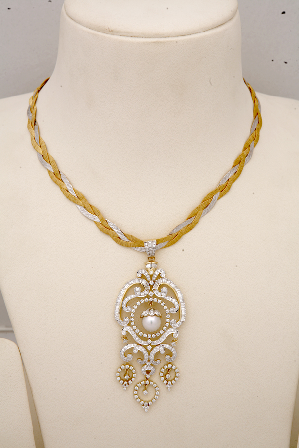 Indian Jewellery and Clothing: Diamond necklace collection ...  Davanam