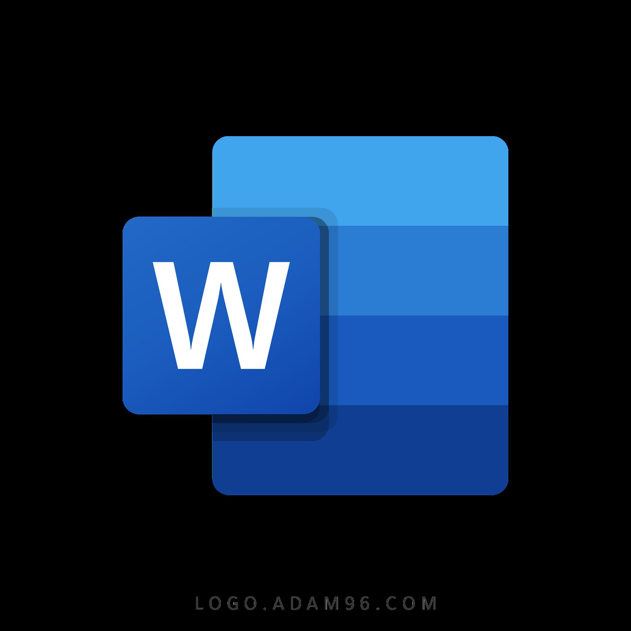 تحميل شعار مايكروسوفت وورد لوجو رسمي عالي الدقة شفاف Logo Microsoft Word PNG