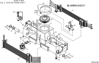 Khung, quay toa của cẩu soosan 6 tấn SCS615-SCS736-SCS736LII