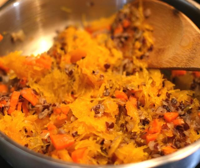 recette végétale vegan courge farcie en gratin automne préparation