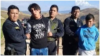 Capturan a presuntos delincuentes tras asaltar a profesores en Otuzco